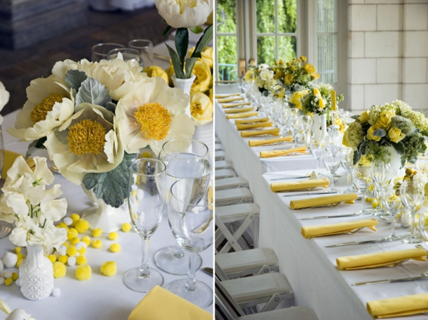 La d coration de table de mariage des id es fascinantes for Table exterieur jaune
