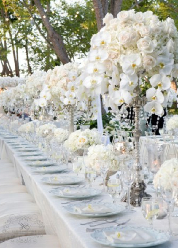 Table rabattable cuisine Paris: Decoration de table de mariage chic