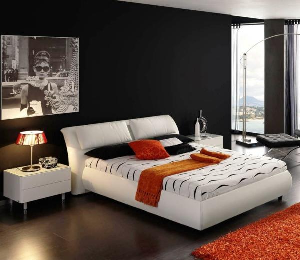 20 id es fascinantes pour d coration de chambre coucher pour homme - Chambre moderne noir et blanc ...