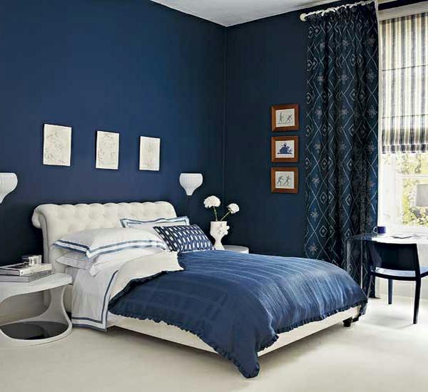 20 id es fascinantes pour d coration de chambre coucher - Chambre blanche et bleu ...