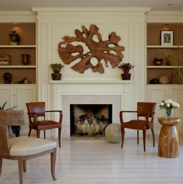 decoration-de-la-maison-en-bois-mur-cheminer