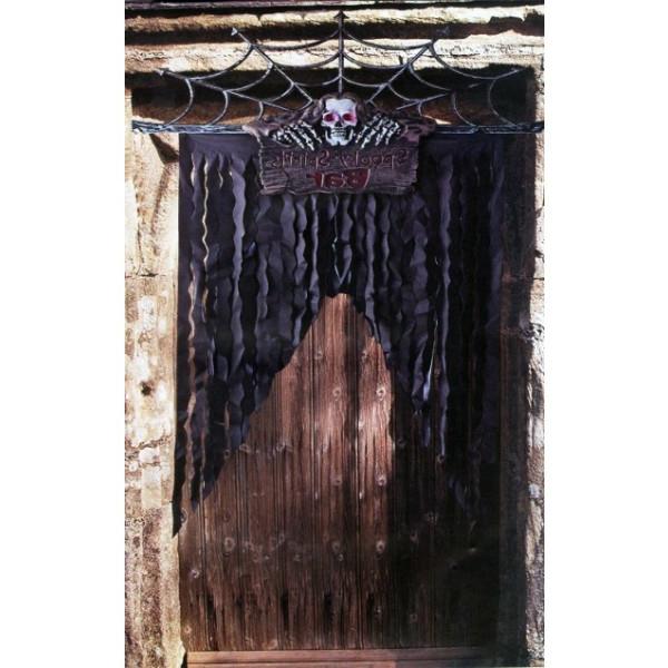 La d coration de porte pour les f tes de no l et halloween id es et pratique - Decoration porte d entree ...