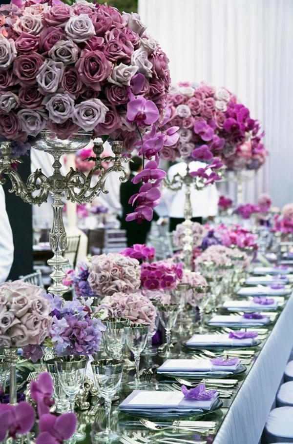 la décoration de table de mariage - des idées fascinantes pour le