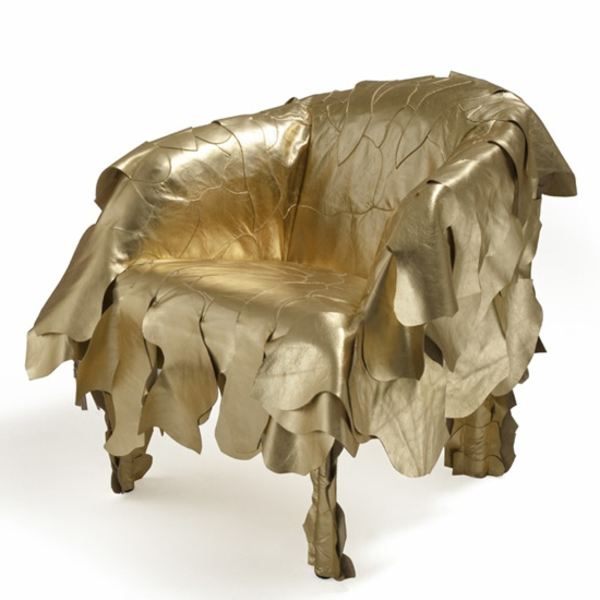 fauteuil-d'or-jaune-club
