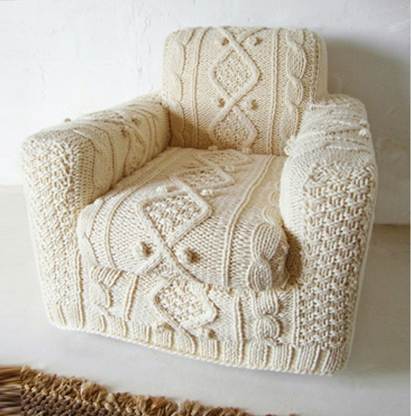 hand-knitted-armchair-cover