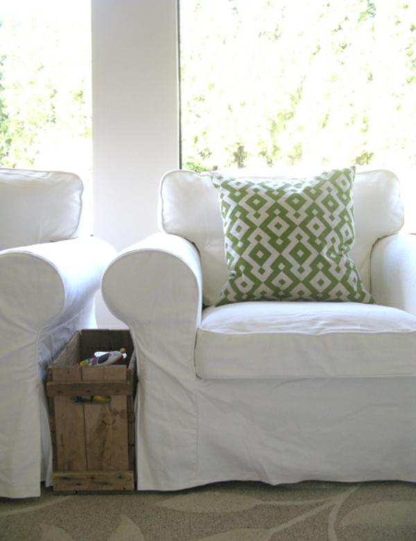 L 39 housse pour fauteuil voltaire en couleur claire for Housse coussin fauteuil