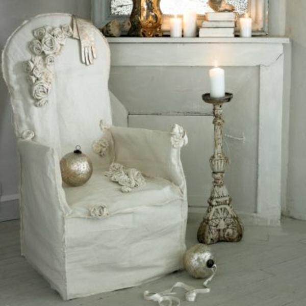 L 39 housse pour fauteuil voltaire en couleur claire for Housse pour canape et fauteuil en cuir