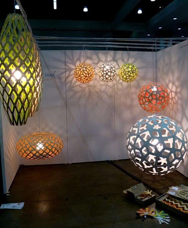 lampe-origami-formes-et-teintes-différantes