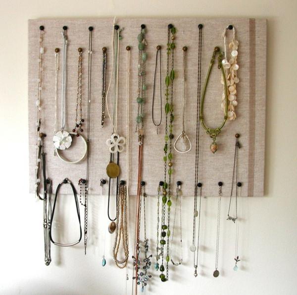 Comment ranger ses bijoux - Porte collier mural ...