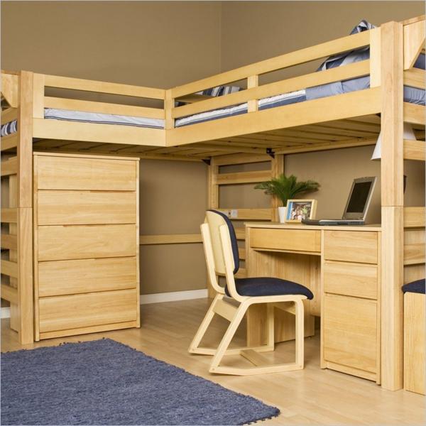 lit-d'enfant-avec-tiroirs-dortoir-éléguant-en-bois