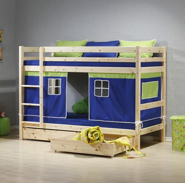 lit-d'enfant-avec-tiroirs-une-maison-sympa-en-vert-et-bleu