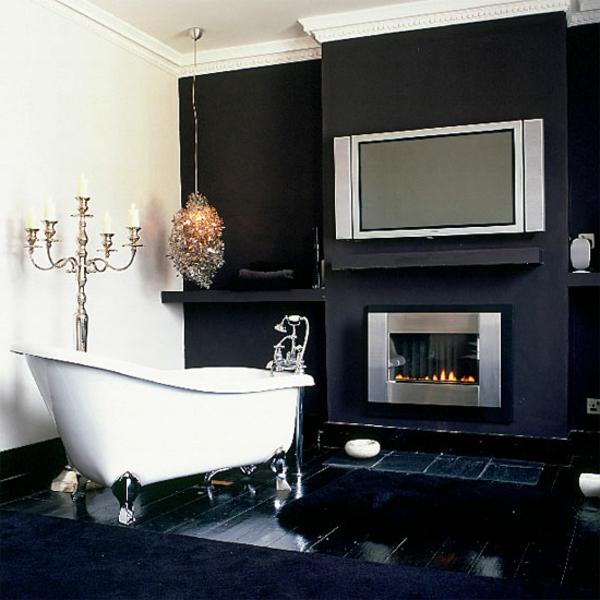Le salle de bain design en blanc et noir - Salon de la salle de bain ...
