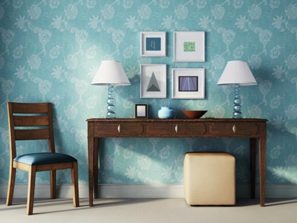 meuble-vintage-et-deux-lampes