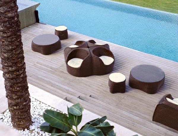 moderne-jardin- salon-résine tressée