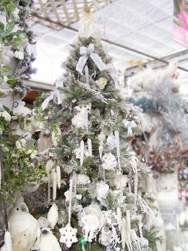 noel-sapin-décoration-déco-de-sapin-blanc
