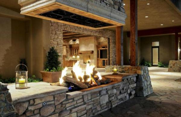 La cheminée d'extérieur crée l'ambiance de votre jardin ou ...
