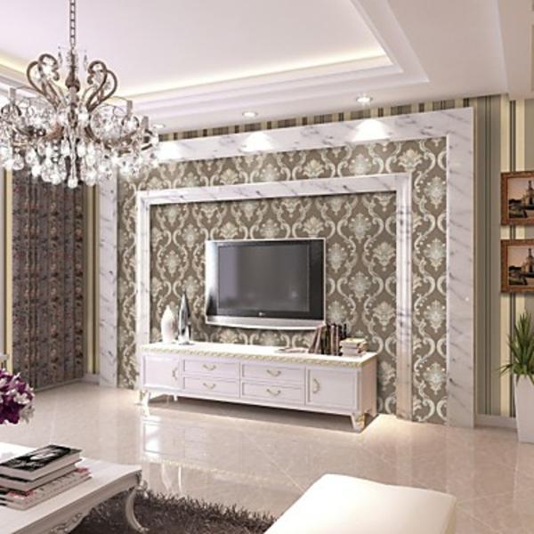 le papier peint intiss l gance la maison. Black Bedroom Furniture Sets. Home Design Ideas