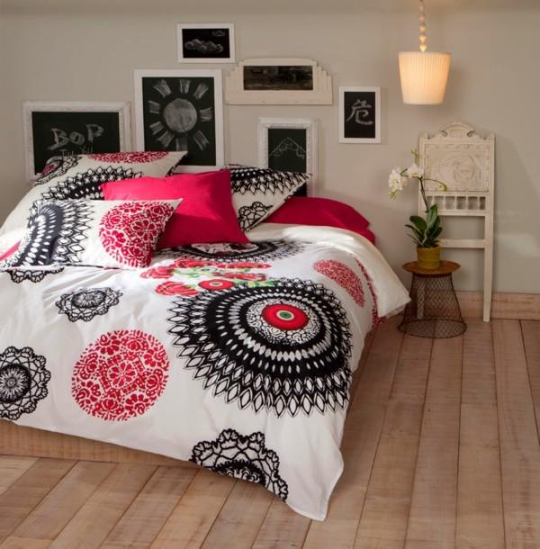 Le linge de lit design la subtile impression de luxe - Linge de maison desigual ...