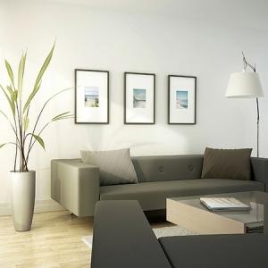 La maison et déco avec des peintures cool