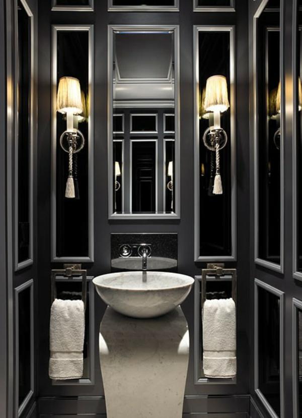 Le salle de bain design en blanc et noir - Meuble de salle de bain style baroque ...