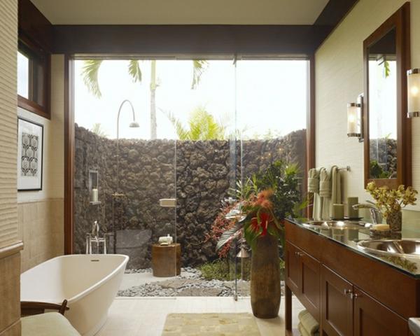 Stunning Salle De Bain Ouverte Sur Jardin Images - House Design ...