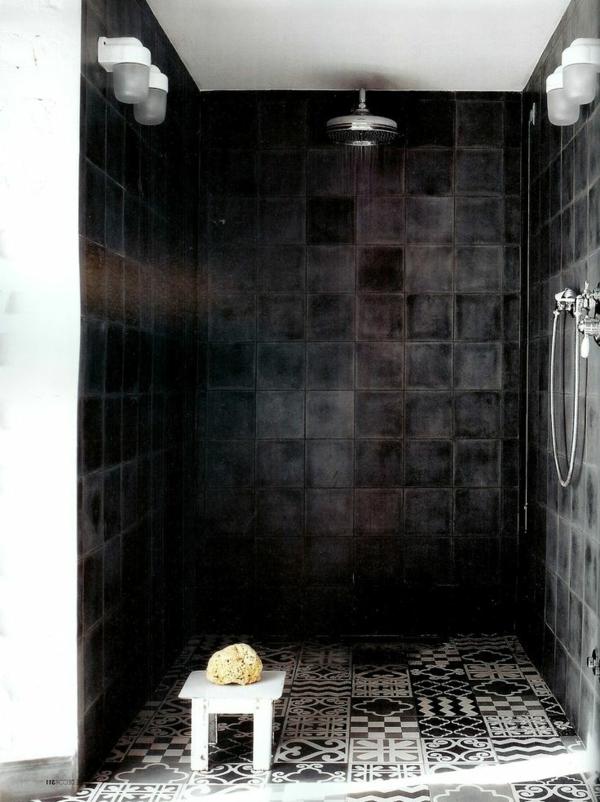 Salle de bain blanche et noire maison design for Salle bain noir et blanc