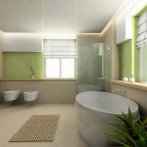 Le salle de bain design en blanc et noir