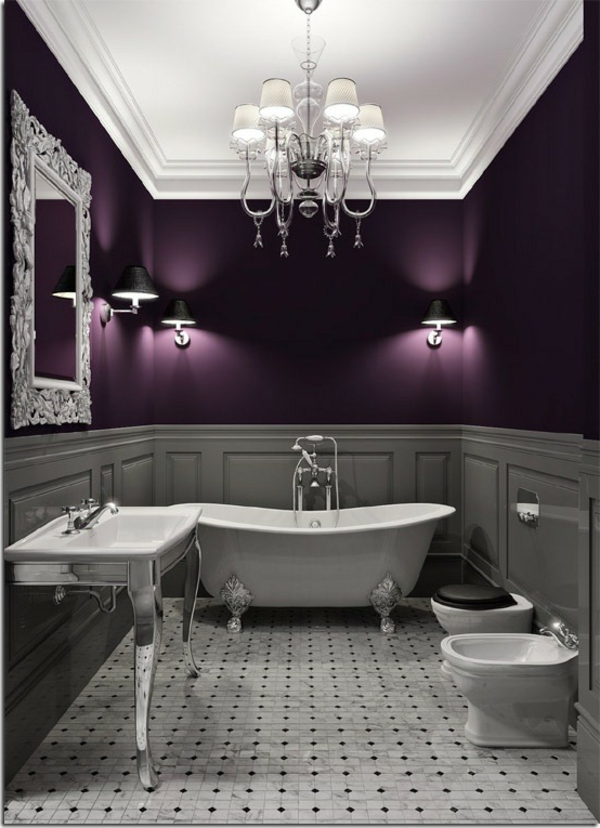 salle de bain aubergine maison design. Black Bedroom Furniture Sets. Home Design Ideas