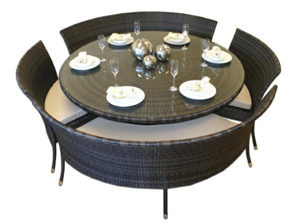 21 id es new pour le salon de jardin r sine tress e Table salon de jardin ronde