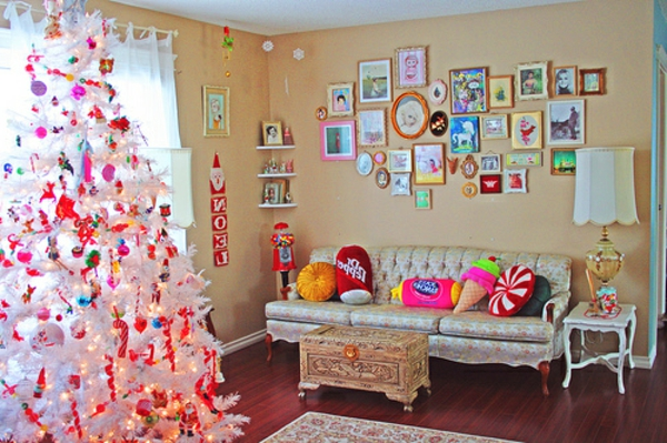 sapin-en-rose-décoration