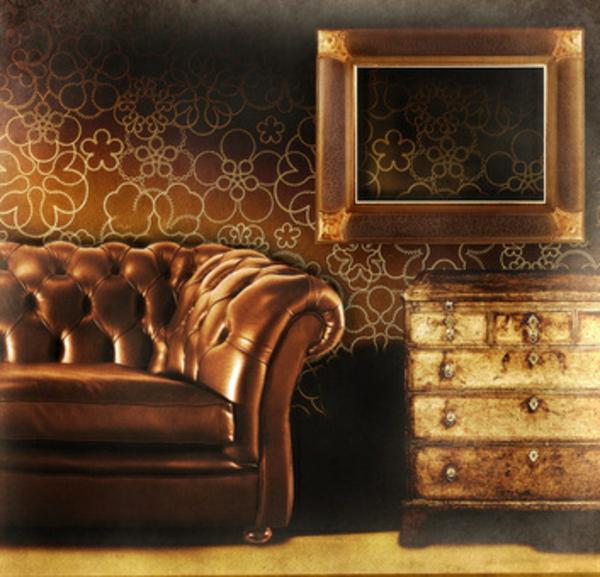 meuble-vintage-canapé-brun