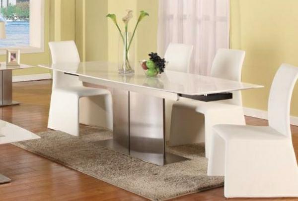 table-à-manger-extensible-chaise-blanc