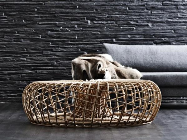 la table basse en rotin une touche d 39 exotisme et. Black Bedroom Furniture Sets. Home Design Ideas