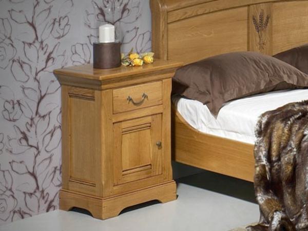 table de chevet rustique. Black Bedroom Furniture Sets. Home Design Ideas