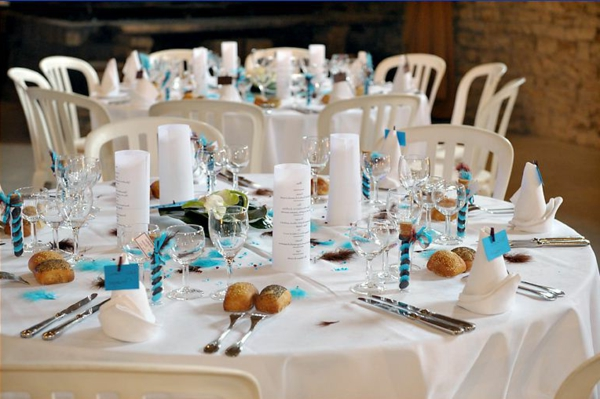Déco Turquoise Et Chocolat Pour Mariage : Décoration table mariage chocolat turquoise idées et d