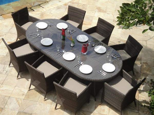 Table de jardin ovale | Domino panda