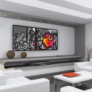 17  idée pour une grand tableau design - mural du salon