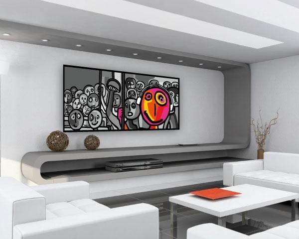 17 id e pour une grand tableau design mural du salon