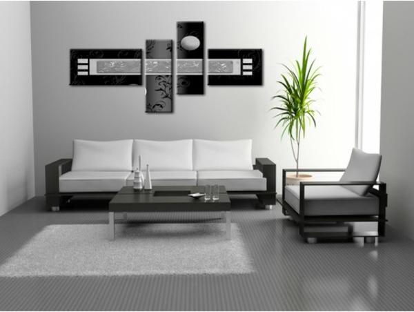 17 id e pour une grand tableau design mural du salon. Black Bedroom Furniture Sets. Home Design Ideas