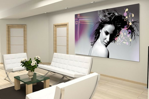 17 id e pour une grand tableau design mural du salon. Black Bedroom Furniture Sets. Home Design Ideas