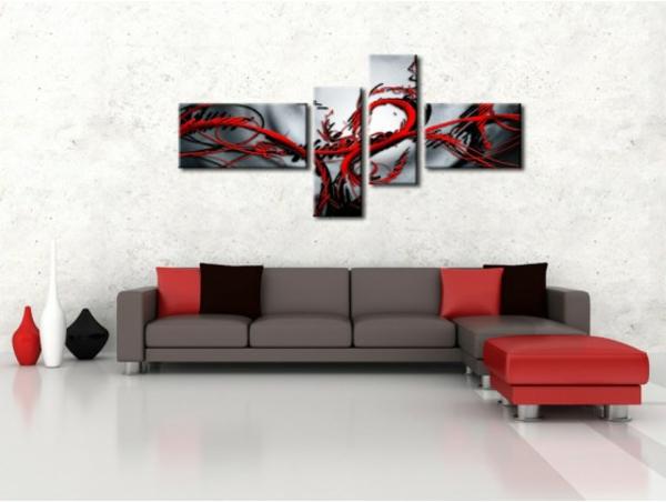 17 id e pour une grand tableau design mural du salon - Tableau decoration sejour ...
