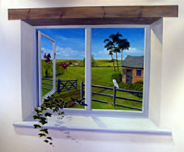 trompe-l'oeil-fenêtre-une plante grimpante