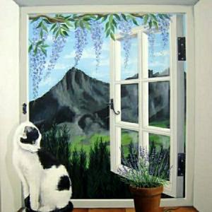 Une trompe l'oeil fenêtre - la magie que vous allez adorer!