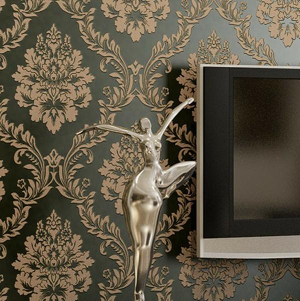vintage-damasque-papier-peinte-intissé