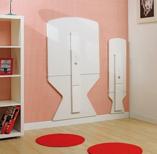La table murale rabattable est un meuble moderne qui - Fabriquer une table murale rabattable ...