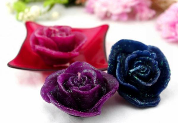 Bougie-de-Rose-de-couleur