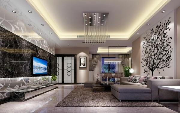 Le-marbre-et-le-design-contemporain-une-salle-de-séjour-spacieuse-avec-le-sol-en-marbre