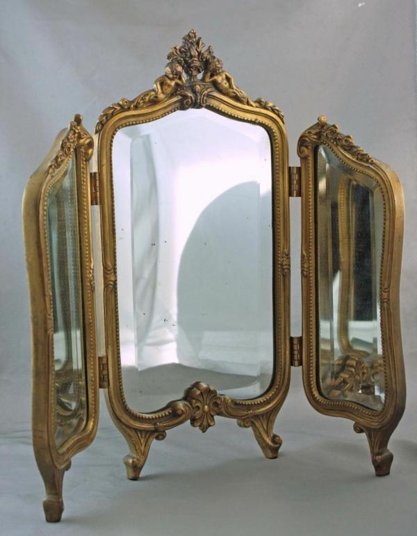 miroir-triptyque-de-cadre-doré