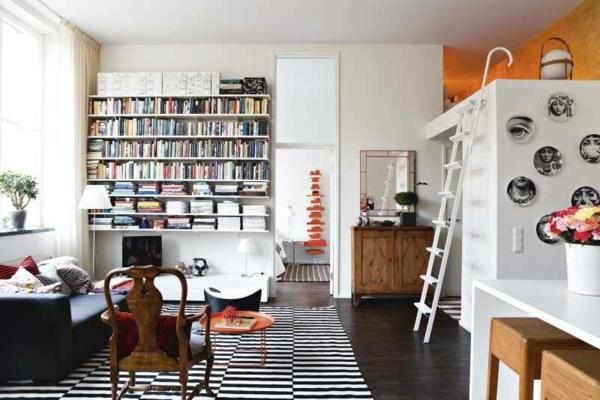 meuble-design-scandinave-des-meubles-blanncs-et-un-sol-noir