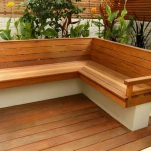 Modèles de bancs en bois pour l'intérieur